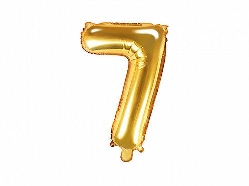 "Folieballong ""7"" Gull 35cm"