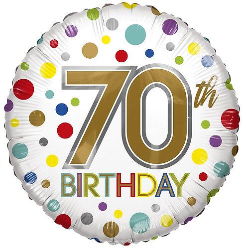 Eco Ballong Birthday Age 70