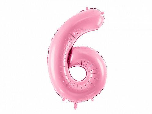 """Folieballong """"6"""" Rosa 86cm"""