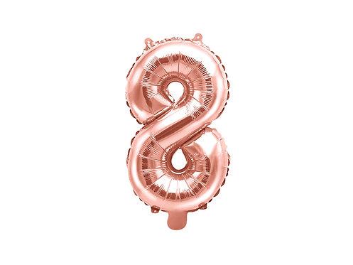 """Folieballong """"8"""" Rose Gull 35cm"""