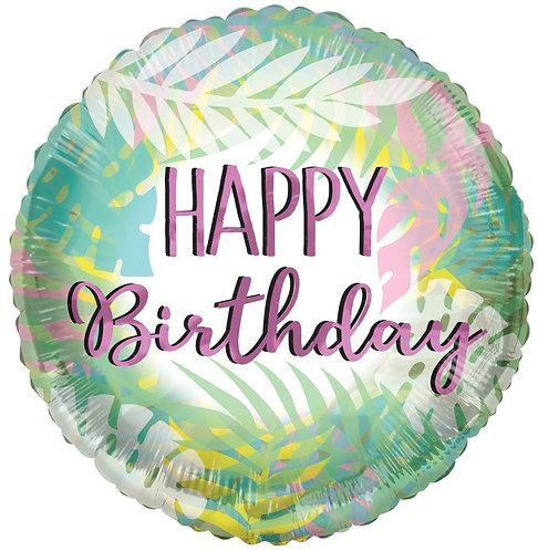 Eco Ballong Birthday Leaves