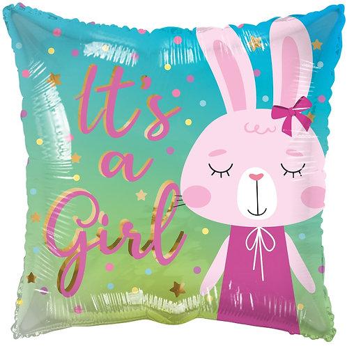 Eco Ballong It's a Girl Rabbit