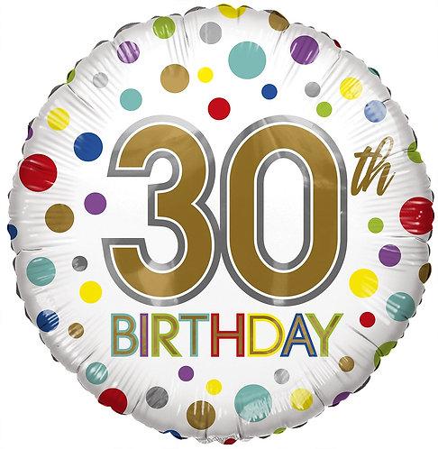 Eco Ballong Birthday Age 30