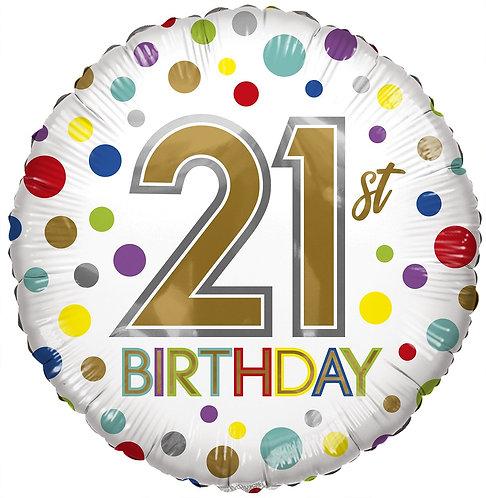 Eco Ballong Birthday Age 21