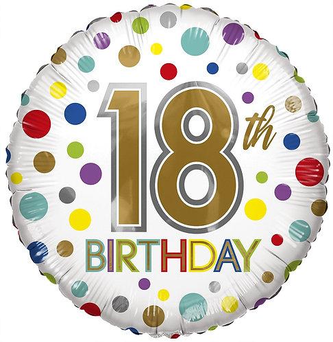 Eco Ballong Birthday Age 18