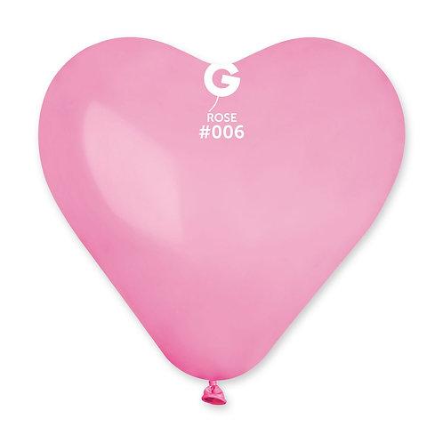 006 Hjerte Rosa 25cm (100)