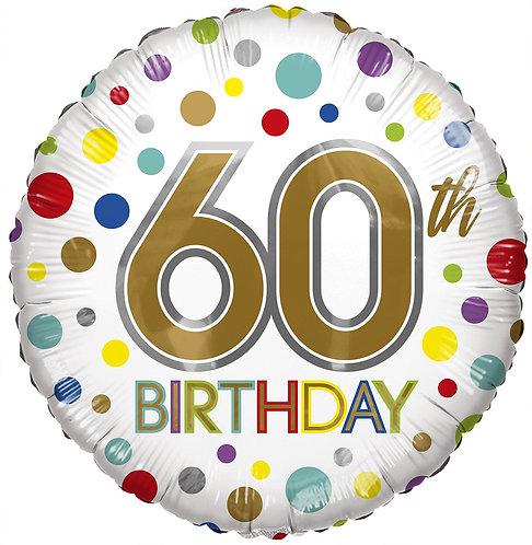 Eco Ballong Birthday Age 60