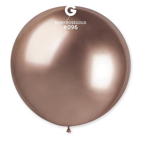 096 Giant Balloon Shiny Rosegold 80cm