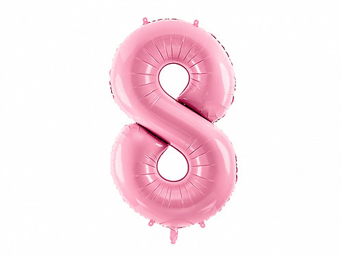 """Folieballong """"8"""" Rosa 86cm"""