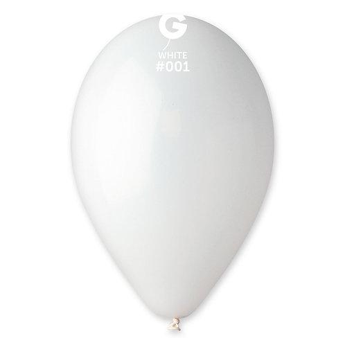 001 White 30cm (100)