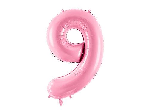 """Folieballong """"9"""" Rosa 86cm"""