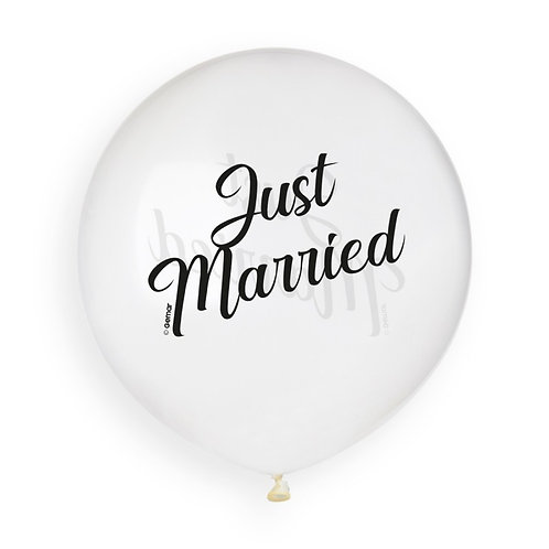 Just Married Clear (25) 48cm