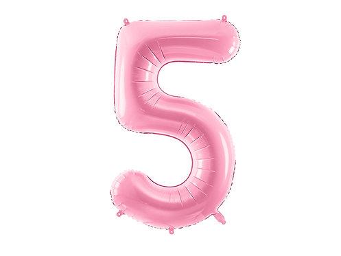 """Folieballong """"5"""" Rosa 86cm"""