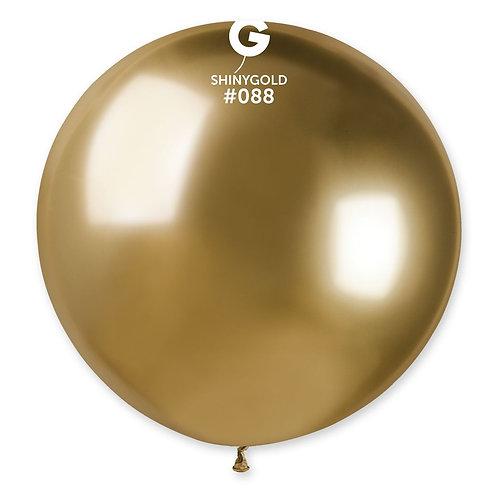088 Giant Balloon Shiny Gold 80cm