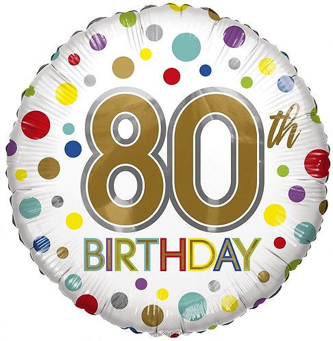 Eco Ballong Birthday Age 80