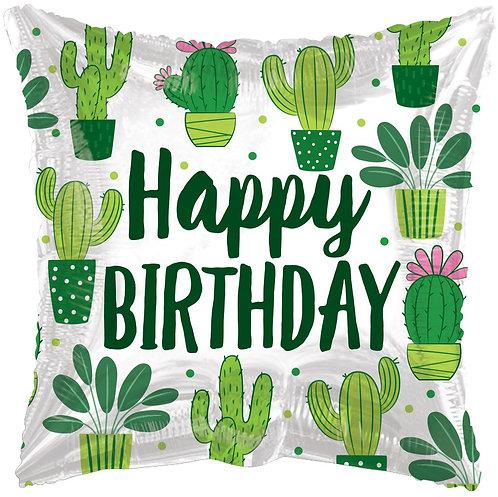 Eco Ballong Birthday Cactus