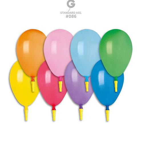 Ballonger med fløyte mix farger