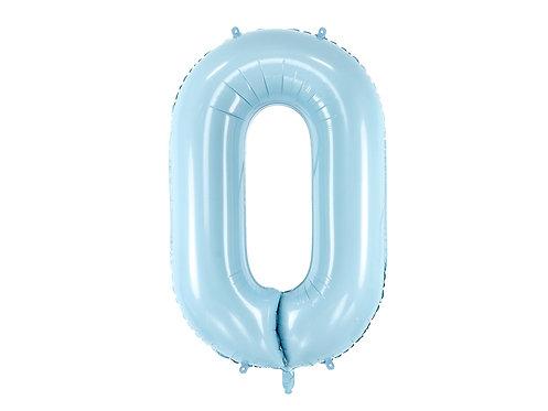 """Folieballong """"0"""" Blå 86cm"""