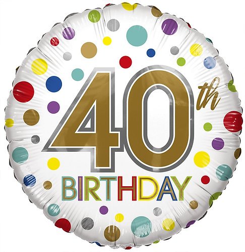 Eco Ballong Birthday Age 40