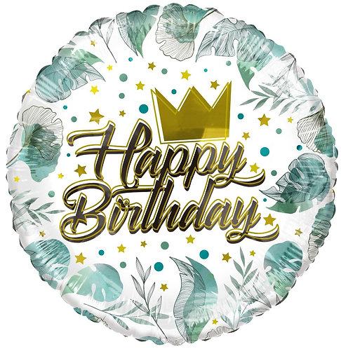 Eco Ballong Birthday Crown & Leaves