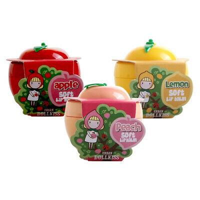 URBAN DOLLKISS Soft Lip Balm Lemon/Peach/Apple 6.5g