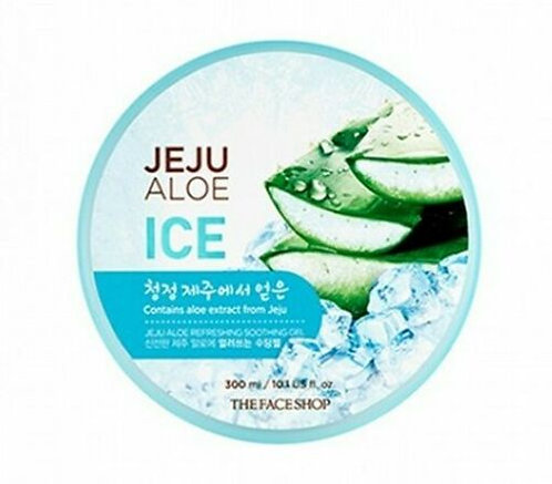 THE FACE SHOP Jeju Aloe Refreshing Soothing Gel (Ice) 300ml