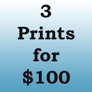 Choose any three digital prints for $100
