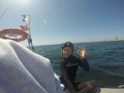 Emma Titeca na sua primeira sessão de mar - AIDA2
