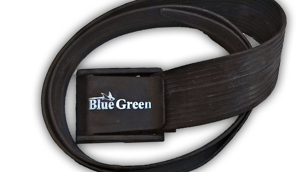 Cinto elastico preto 3mm BlueGreen