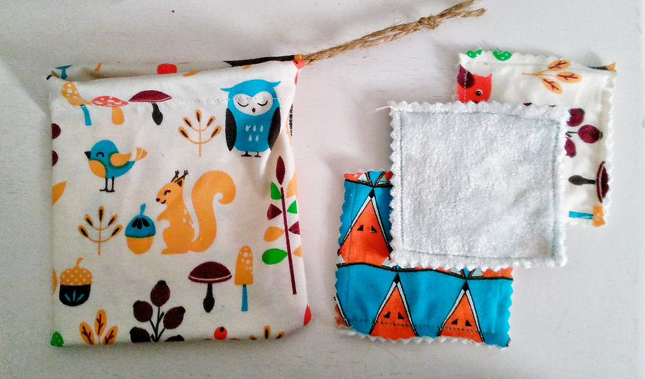 Bamboo Squares and Wash Bag Pack