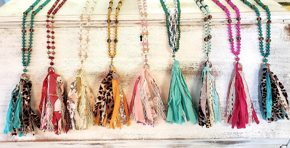 Tassel Necklace & Earring Set