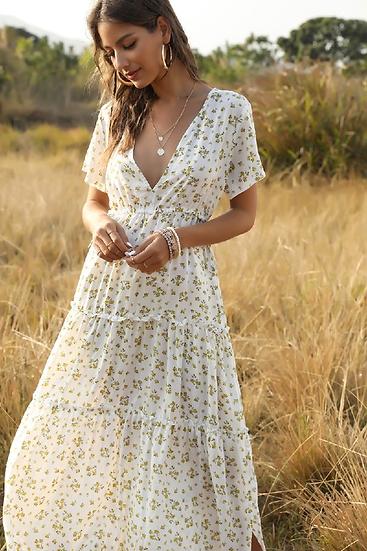 Vivian Boho Floral Dress