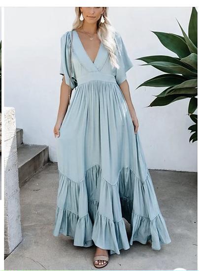 Veronica Long Ruffle Maxi Dress