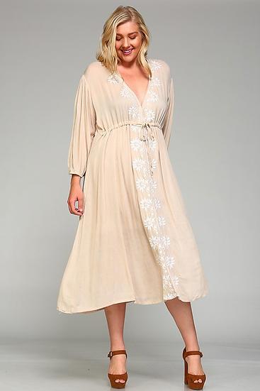 Olivia Embroidered Maxi Dress PLUS