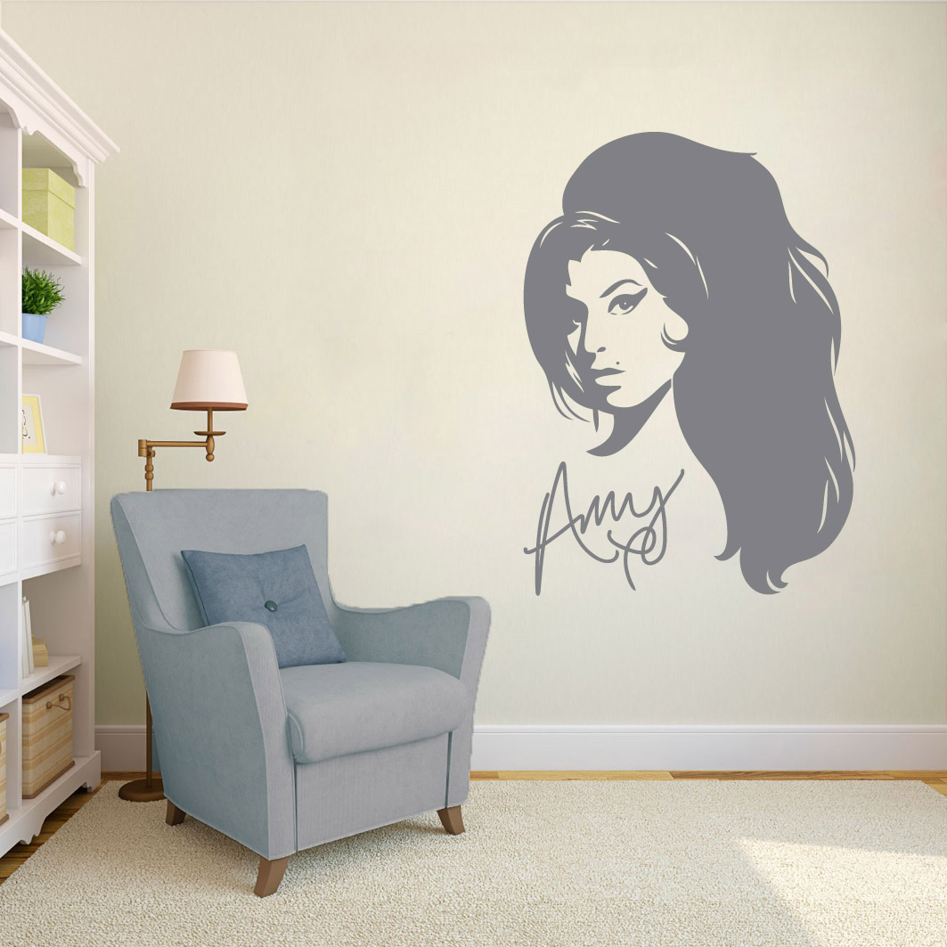 wall stickers custom decals ns vinyls com fashion drawing wall art sticker 13 00 amy winehouse cream room sticker jpg