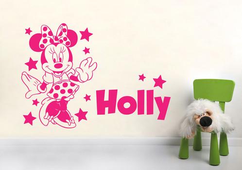 Minnie Mouse Stars Wall Art Sticker