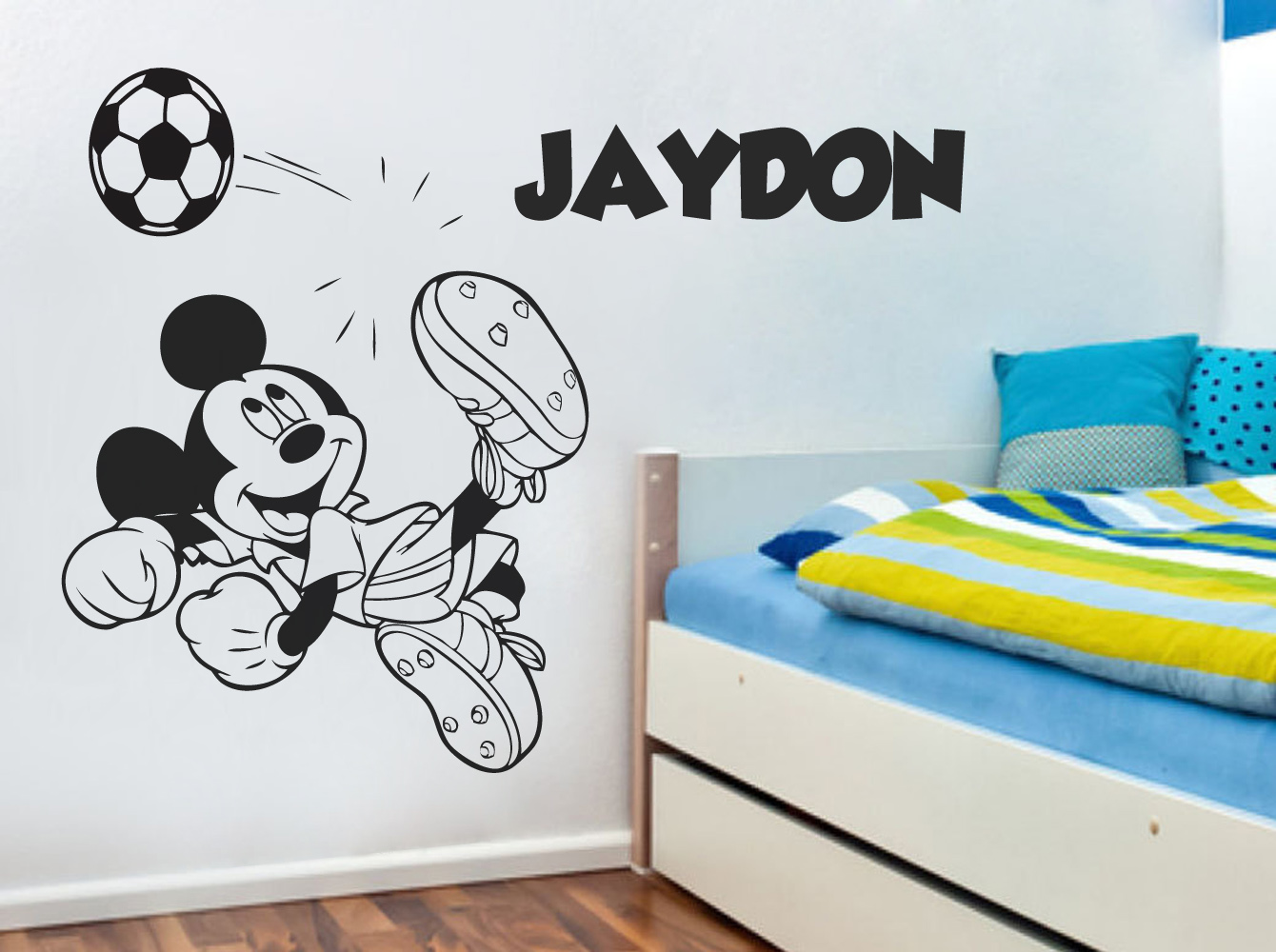 Personalised mickey mouse wall stickers choice image home wall mickey mouse stickers for walls home design mickey mouse football wall sticker wall stickers u0026 custom amipublicfo Gallery