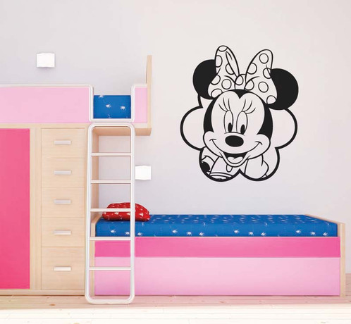 Charmant Personalised Minnie Mouse Wall Sticker