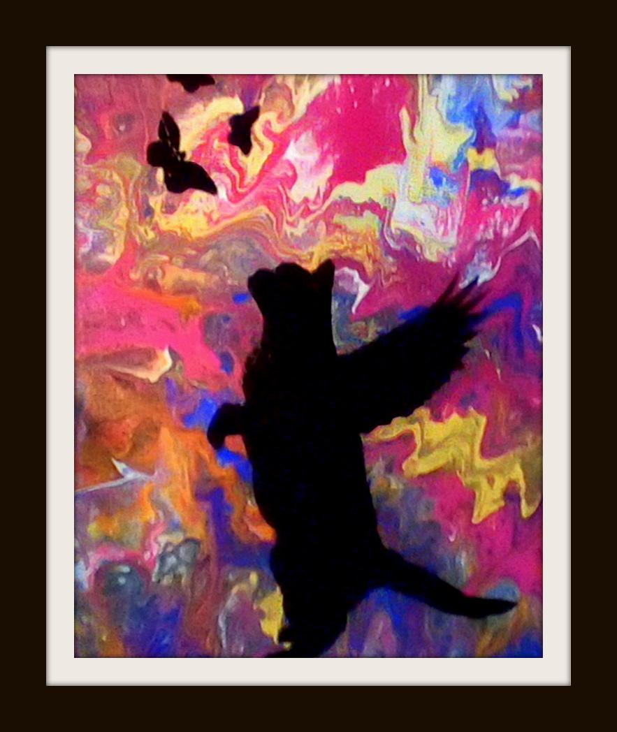 Angel Cat & Butterflies