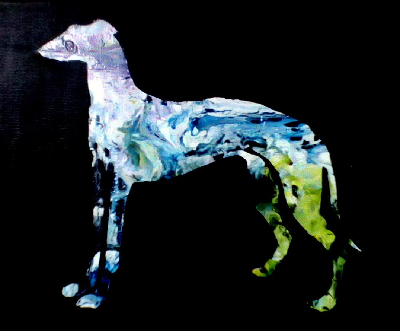 Greyhound abstract