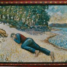 Artist Asleep on a Beach