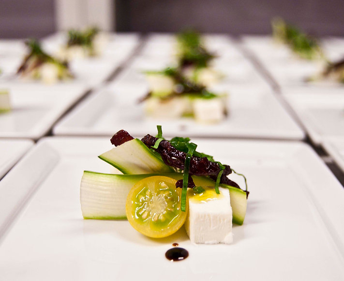 Event appetizer vegetarian salad cheese