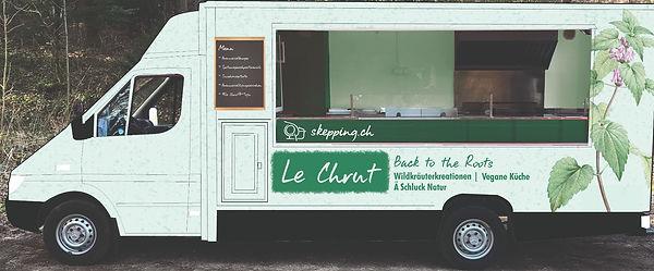Der Food Truck Le Chrut serviert Menüs aus Wildkräutern und Ausschussgemüse