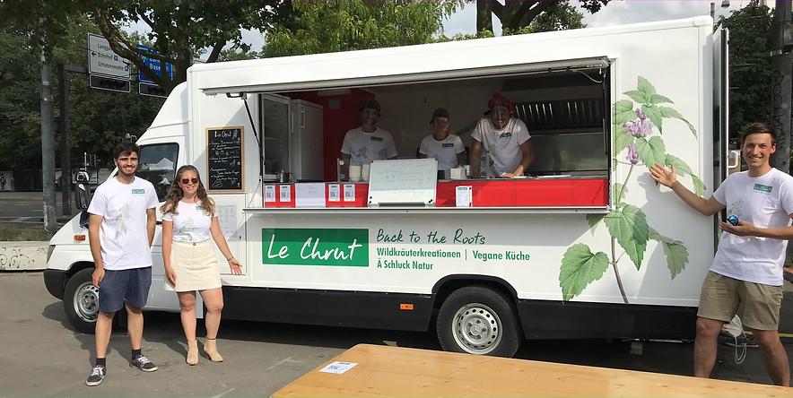 Der Food Truck Le Chrut serviert Menüs aus Wildkräutern und Ausschussgemüse.