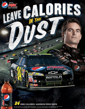 A point of sale piece designed to grab attention faster than Jeff Gordon can go from 0 to 60.