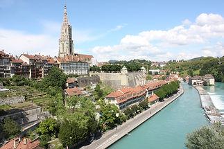 Sicht auf den Stiftsgarten unterhalb der Münsterplattform in Bern