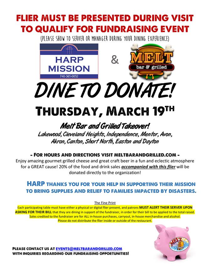 Melt Fundraiser March 19th