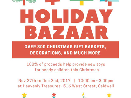Christmas Bazaar this week!