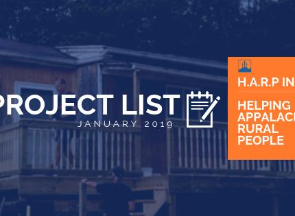 January 2019 Project List