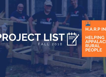 Fall 2018 Project List